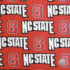 NCAA North Carolina NC State Wolf Pack Cotton Twill Team Fabric by the Yard