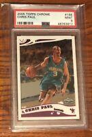 2005 Topps Chrome Chris Paul #168 Rookie RC PSA 9 Mint Charlotte Hornets Suns