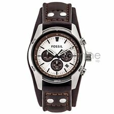 Fossil Authentic Watch CH2565 Brown 45mm Coachman Leather