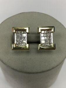 18K Yellow And White Gold And Diamond Cufflinks