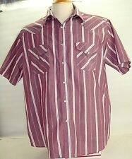 Mens Ely Catteman Western Shirt Pearl Button Front Short Sleeve Size- 3XL-Tall