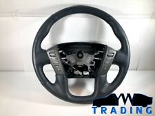 2017 - 2019 NISSAN ARMADA LEATHER STEERING WHEEL - 48430 5ZU0A