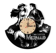"NEW  Vinyl Record Wall Clock ""Disney Mermaid"", modern decorative art ~ 12"""