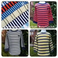New Baby Boys ex chainstore Next Long Sleeve Striped T Shirt Top 12-18 18-24 mth