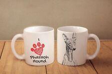 """Pharaoh Hound - ceramic cup, mug """"I love"""", Ca"""