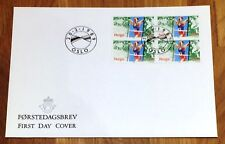 Norway Post FDC 1989.02.20. Cross Country World Championship - Block of Four