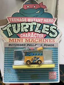 1990's 1980's Bandai Playmates TMNT Mini Turtle Van Teenage Mutant Hero Turtles