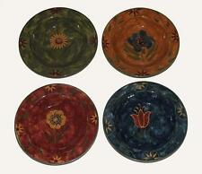 4 Susan Winget Embossed Flowers Savannah Heavy Rimmed Soup Bowls Exc Disc