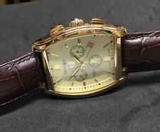 Lebelle & Sons Gents 18ct Gold Plated Diamond Set Watch. New But Box Tatty