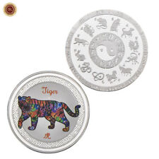 WR Chinese 12 Zodiac Horoscope Animals Lunar Year Of The Tiger Silver Coin Mint