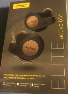 Jabra Elite Active 65t In-Ear Headphones Copper/ Blue  (New)