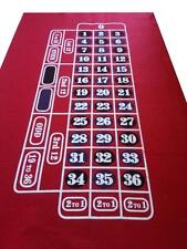 RED ROULETTE / FELT / LAYOUT  CLEAR OUT FREE P+P