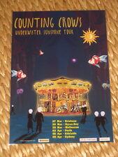 COUNTING CROWS  -  UNDERWATER SUNSHINE  AUSTRALIAN  TOUR  -  PROMO TOUR POSTER