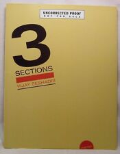 Vijay Seshadri 3 SECTIONS: Poems First Edition Proof Copy Pulitzer Prize Poetry