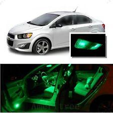 For Chevy Sonic 2012+ Green LED Interior Kit + Green License Light LED