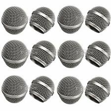 Replacement Head Mesh Microphone Grille for Shure SM58 Beta58/Beta58a Metal #EA
