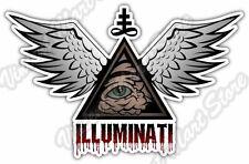 """Eye of Providence Illuminati Freemasonry Car Bumper Vinyl Sticker Decal 5""""X4"""""""