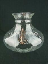 More details for vintage clear glass diamond moulded lge oil lamp vesta style shade 10.2cm fitter