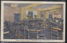 POSTCARD WASHINGTON DC AMBASSADOR HOTEL HI-HAT COCKTAIL LOUNGE 1030'S