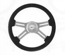"""steering wheel 4 spoke Classic leather 18"""" Peterbilt Kenworth FL Mack 3 hole hub"""