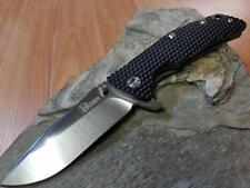 Kizer Folding Knife Pocket VG10 Satin Drop Pt Ti Black G10 Reversible EDC 404b1