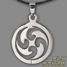 Sonnenrad Anhänger Edelstahl triskele celtic sun tattoo tribal kette amulett ek