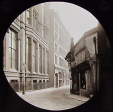 Glass Magic Lantern Slide POETS CORNER MANCHESTER DATED 1891 VICTORIAN PHOTO