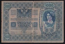 YUGOSLAVIA --- SHS---- 1000 KRONEN  1902 ----WITH MILITARY SEAL ----