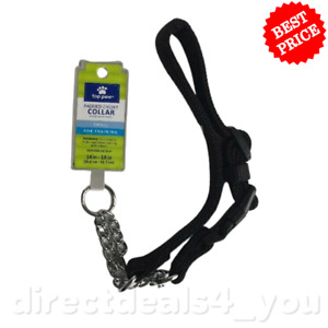 (New) Top Paw Padded Black Chain Dog Collar Small Size