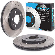 ROTORDISCS FRONT DRILLED GROOVED 256mm BRAKE DISCS VW POLO 6R GOLF MK4 1.6 GTI