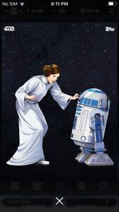Topps Star Wars Digital Card Trader Galactic Icons Princess Leia & R2-D2 Insert