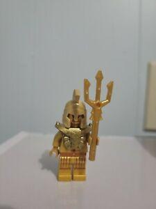 ATLANTIS Lego Temple Statue Poseidon Gold w/Trident Genuine Lego 7985