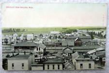 1912 POSTCARD BIRDS EYE VIEW GAYLORD MICHIGAN RAILROAD TRAIN STATION #F5