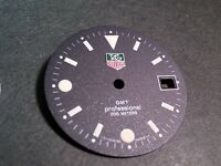 Tag Heuer dial - 28 mm GMT Professional, BLACK dial for watch repair