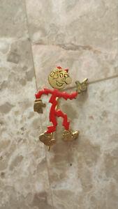 Deco Reddy Kilowatt Electric Utility Mascot Advertising Shirt Pin Enamel detail