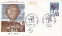 Enveloppe 1er jour CEF 1971 : Centenaire Poste du Ballon monté du siège de Paris