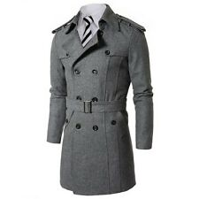 Men's long trench coat, jacket, double breasted