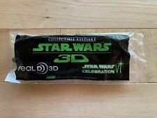Star Wars Celebration VI (2012) Official 3D Glasses Collectible Keepsake Real D