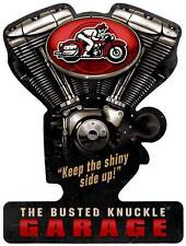 Busted Knuckle Garage Mechanic Motorcycle Metal Sign Man Cave Shop Club BUST026