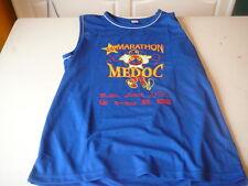 Tee-shirt Marathon du Médoc 25 eme  XL bleu sans manche
