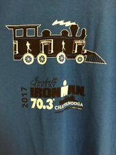 2017 Ironman 70.3 Chattanooga Triathlon Jersey Blue Gildan Mens Train Volunteer