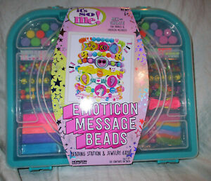 Its So Me Emoticon Message Beads Jewelry Craft Set NEW IN BOX!!