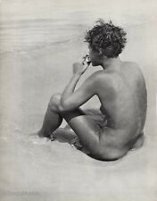1932 Vintage FEMALE NUDE Woman Breast Butt Beach Sand Photo Art 16X20 JEAN MORAL