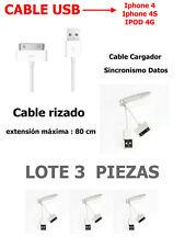CABLE USB PARA IPHONE 4 4S 3G 3GS IPAD 3 2 IPOD NANO - Rizado