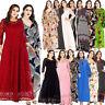 Plus Size Women Boho Maxi Dress Long Sleeve Abaya Printed Beach Casual Party New