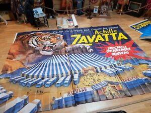grande affiche cirque Achille Zavatta 4mx3m