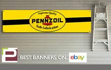 Pennzoil Motor Oil Banner Sign, Vintage, Retro, for workshop, garage, man cave