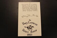 1982 The Pony Express Rides Again pamphlet