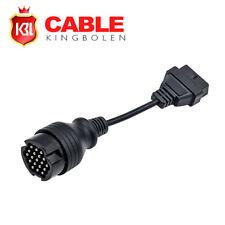 19pin OBD1 to 16Pin OBD2 Diagnostic Adapter Connector OBDII Cable For Porsche