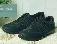 Damen Bequemschuhe Schuhe Komfortschuhe Schnürschuhe Sneaker Schwarz